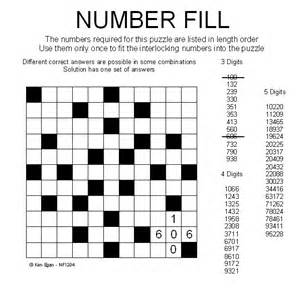 Number Fill It in Puzzles