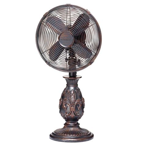 table fans at home depot hunter retro 12 in 3 speed oscillating personal table fan