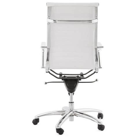 fauteuil de bureau cuir blanc fauteuil de bureau amen en simili cuir blanc
