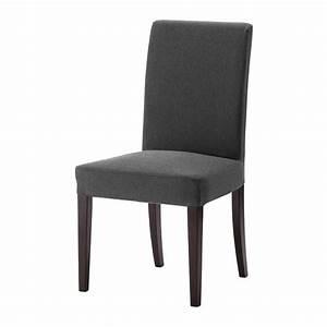 HENRIKSDAL Chaise Dansbo Gris Fonc IKEA