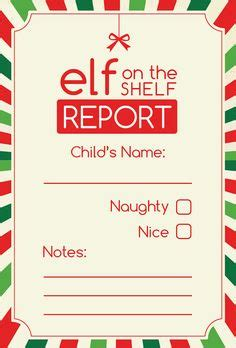 naughty warning letter  santa  elf