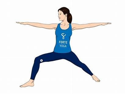 Warrior Yoga Pose Ii Standing Poses Angle