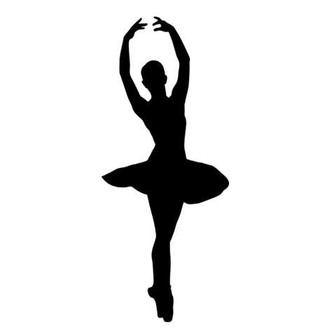 BALLERINA SILHOUETTE Wall Decal Decorations, Ballerina