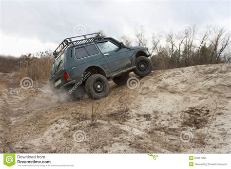 offroad jeep graphics lada niva jeep offroad royalty free stock photography