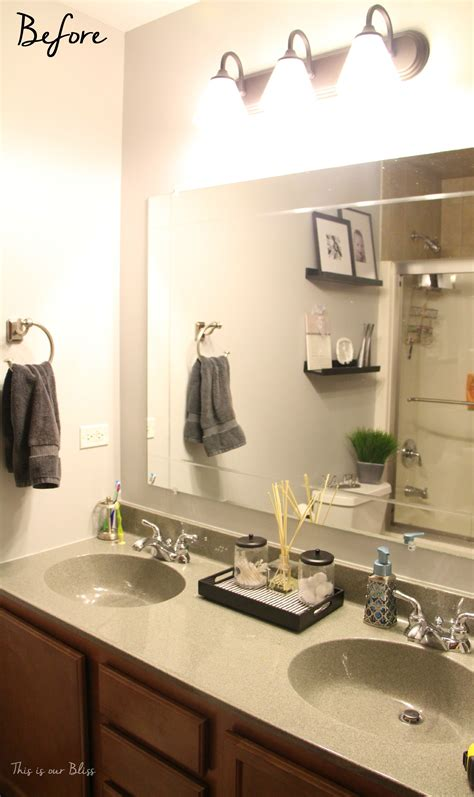 Pictures Of Bathroom Light Fixtures by Simple Bathroom Vanity Light Fixture Update This Is Our
