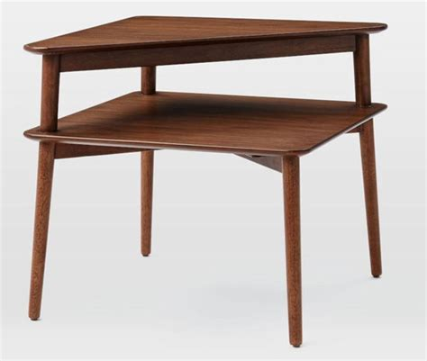 west elm mid century table mid century stepped side table at west elm