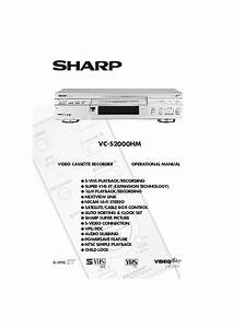 Sharp Vc  Operation Manual