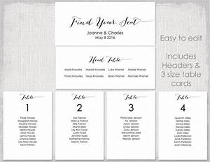 wedding seating chart template black quotbombshellquot diy With table seating plan template free download