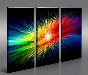 Moderne Kunst Leinwand : color explosion moderne kunst bilder auf leinwand wandbild poster ebay ~ Markanthonyermac.com Haus und Dekorationen
