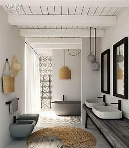 salle de bain les tendances douche baignoire et With salle de bain design avec article décoration de table