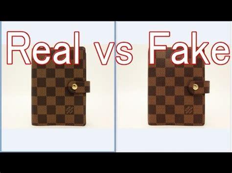 real  fake louis vuitton damier agenda fonctionnel pm