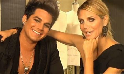 Adam Lambert Heidi Klum Talk Fashion More Video