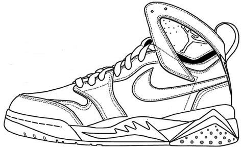 michael jordan shoes coloring pages  getdrawings