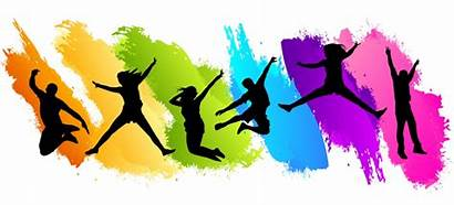 Wellbeing Jumping Wellness Colors Health Fun Well