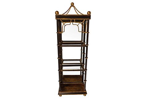 Wall Etagere by Iron Wall Etagere With Glass Shelves Bamboo Design