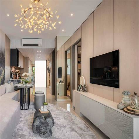 TV Feature Wall Singapore - Modern Design With TV Console ...