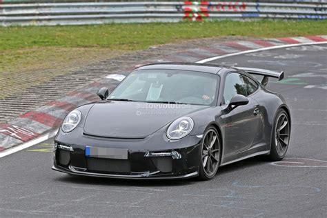porsche usa 2017 2017 porsche 911 gt3 spied on nurburgring to get 911 r 6