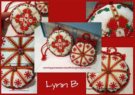 happiness is cross stitching cross stitch ornaments progress on covered box and - Free Christmas Cross Stitch Ornaments