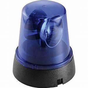 Lampeggiante della polizia LED Mini Rundumleuchte Blu Numero di lampadine: 1 in vendita online