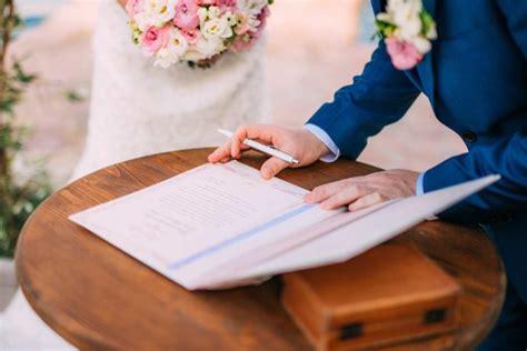 die anmeldung zur eheschliessung  behaelt man den ueberblick