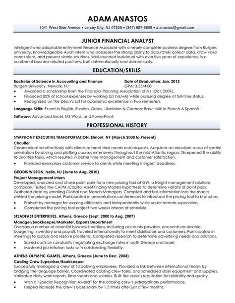 sle new graduate resume exles resume sles for