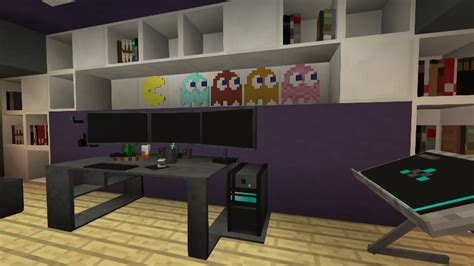 check   awesome gaming room built  minecraft