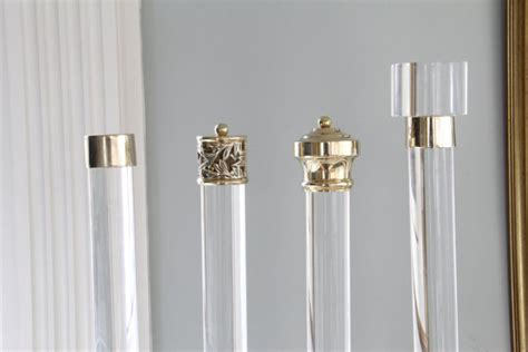 acrylic drapery rods lucite home decor curio design studio