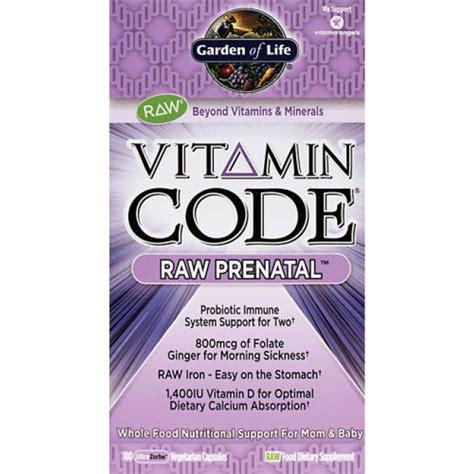 garden of vitamin code prenatal garden of vitamin code prenatal 180 veggie caps