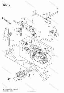 Suzuki Motorcycle 2007 Oem Parts Diagram For Throttle Body