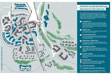 plans drawn  reconfigure canyons village  park city