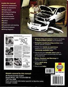 Toyota Corolla Ae101  Ae102  Ae112  Zze122 Series 1997