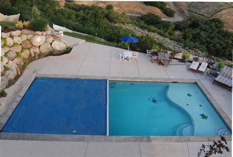 semi inground pool  deep  pool automatic pool