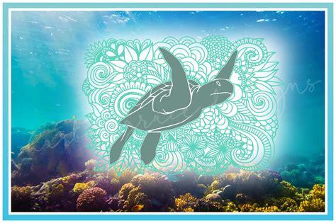 Mandala sea turtle digital download. Sea Turtle Mandala Zentangle SVG (842962)   SVGs   Design ...
