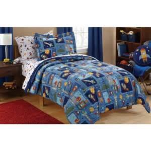 mainstays kids space bed in a bag bedding set walmart com