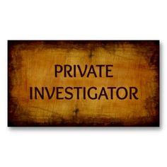 private investigator business cards images