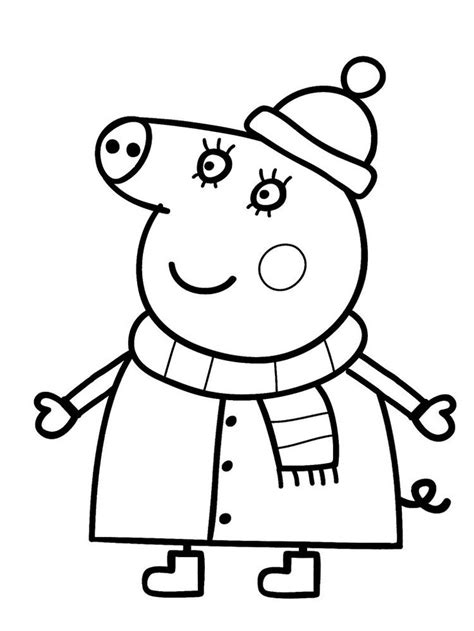 Peppa Pig Colouring Pages Free Printable in 2020 Peppa