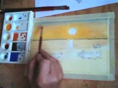 corso  pittura   tramonto primo tempo youtube