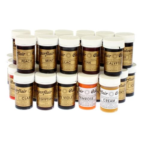 food coloring paste sugarflair set 39 colours food colouring gel pastes