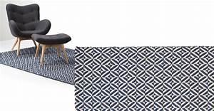 Made Com Tapis : mira tapis tiss plat 120 x 170 cm bleu marine ~ Teatrodelosmanantiales.com Idées de Décoration