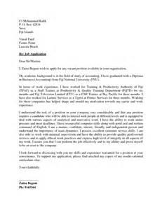 Job Application Cover Letter Sample