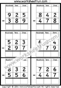subtraction regrouping images subtraction