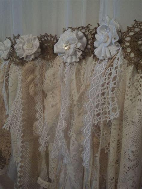 shabby chic window valances  curtains images