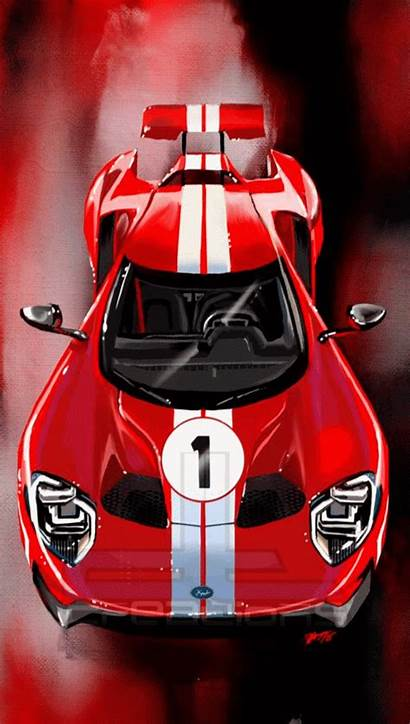 Ford Gt Heritage Edition Overhead Gt40 Cars