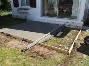 comment couler une dalle de beton pour terrasse 1 beton With comment construire une terrasse en beton