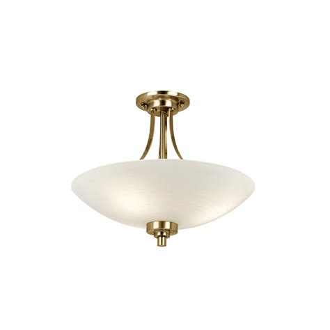endon welles 3ab 3 light antique brass semi flush fitting