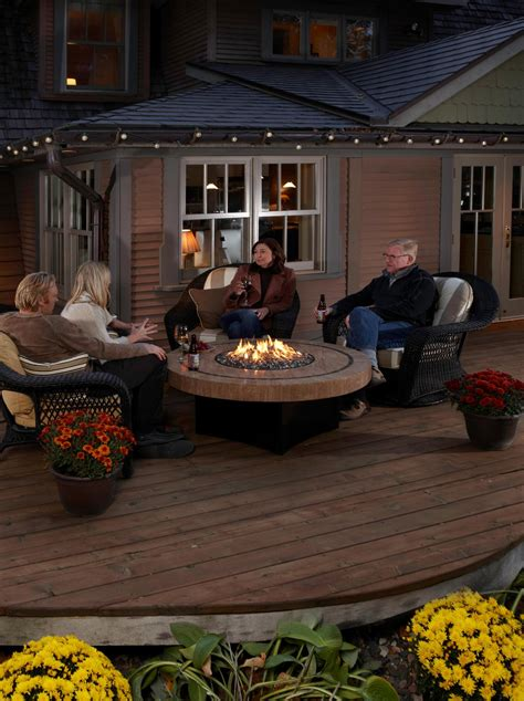 crboger patio set with firepit table outdoor tables