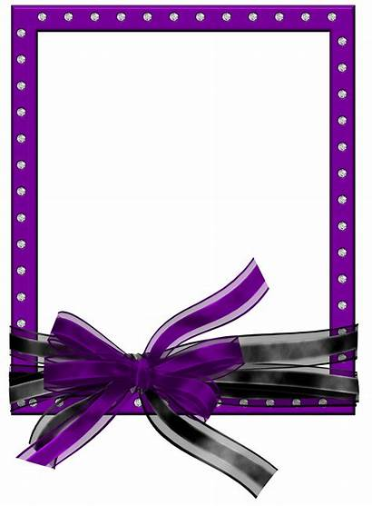 Purple Frame Clipart Frames Bow Ribbon Clip