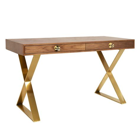 walnut channing desk modern furniture jonathan adler