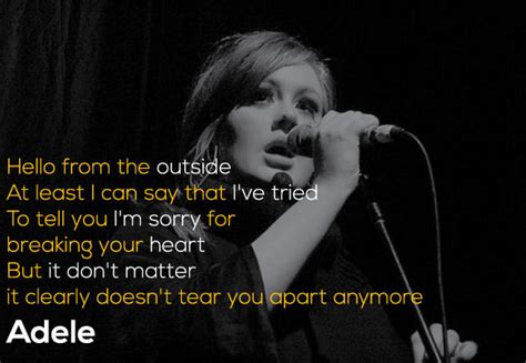 adele quotes   lyrics  lines