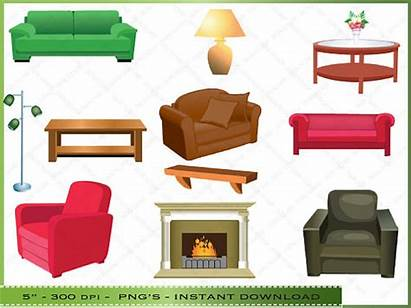 Clipart Living Bedroom Couch Furniture Clip Cliparts